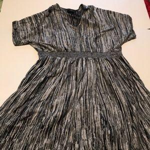Size 22/24 lane Bryant grey shift dress